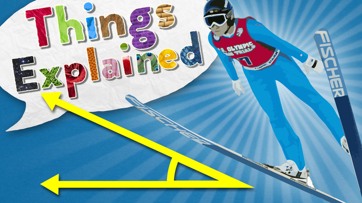 An Olympic ski jumper and acute angle are featured on the poster image.
