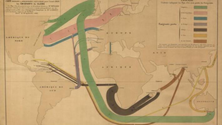 1858 Global Emmigration Map