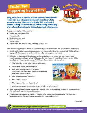 Teacher Tips: Supporting Pretend Play | Daniel Tiger's Neighborhood
