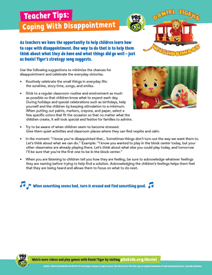 Teacher Tips: Coping With Disappointment | Daniel Tiger's Neighborhood