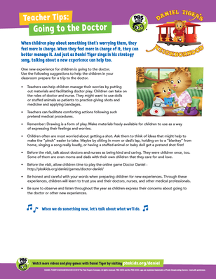 Teacher Tips: Going to the Doctor | Daniel Tiger's Neighborhood