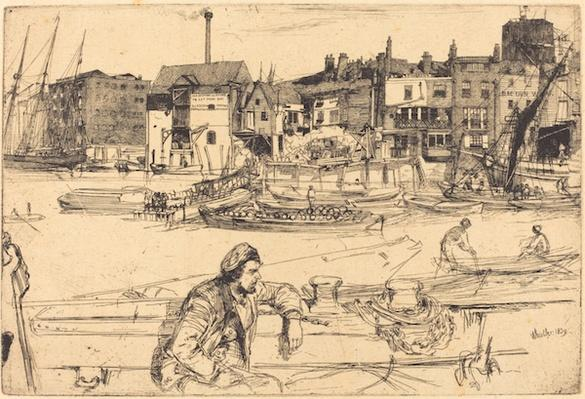 Black Lion Wharf, 1859 | James McNeill Whistler