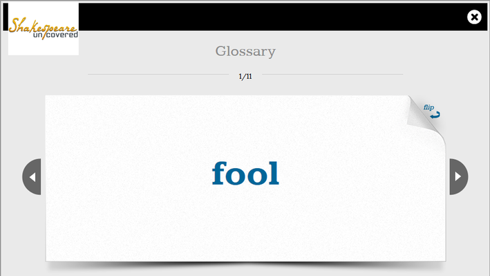 The King and the Fool: Flashcards   Shakespeare Uncovered