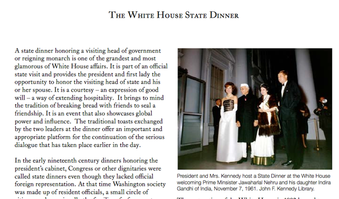 The White House State Dinner