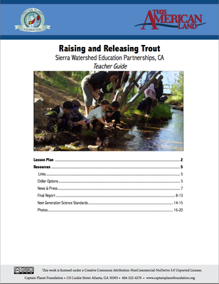 Teacher's Guide: Raising and Releasing Trout | This American Land