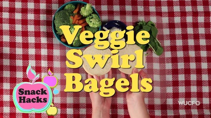 Snack Hacks | Veggie Swirl Bagels