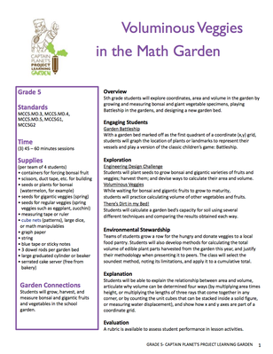 Voluminous Veggies in the Math Garden | Project Learning Garden