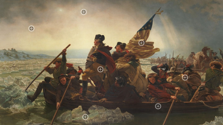 Washington Crossing the Delaware Painting Interactive