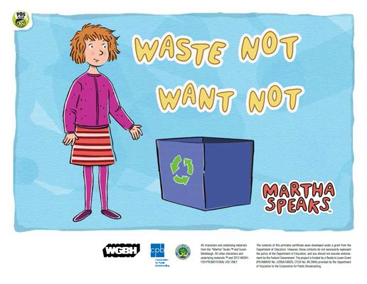 Waste Not, Want Not PDF | Martha Speaks - PDF