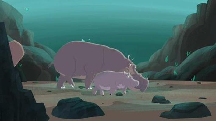 Water Walking with a Hippo | Wild Kratts