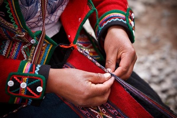 Weaving in Chinchero, Peru