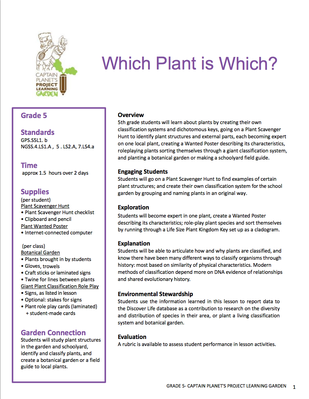 Which Plant is Which? | Project Learning Garden