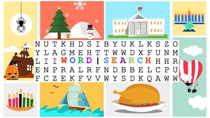 Christmas Vocabulary Word Search | All About the Holidays