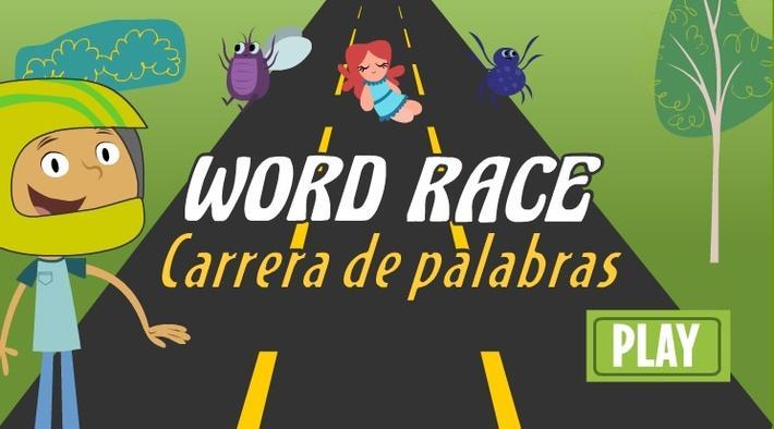 Word Race Interactive Hop Look and Listen
