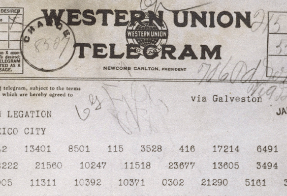 Zimmermann Telegram (1917): Image 1
