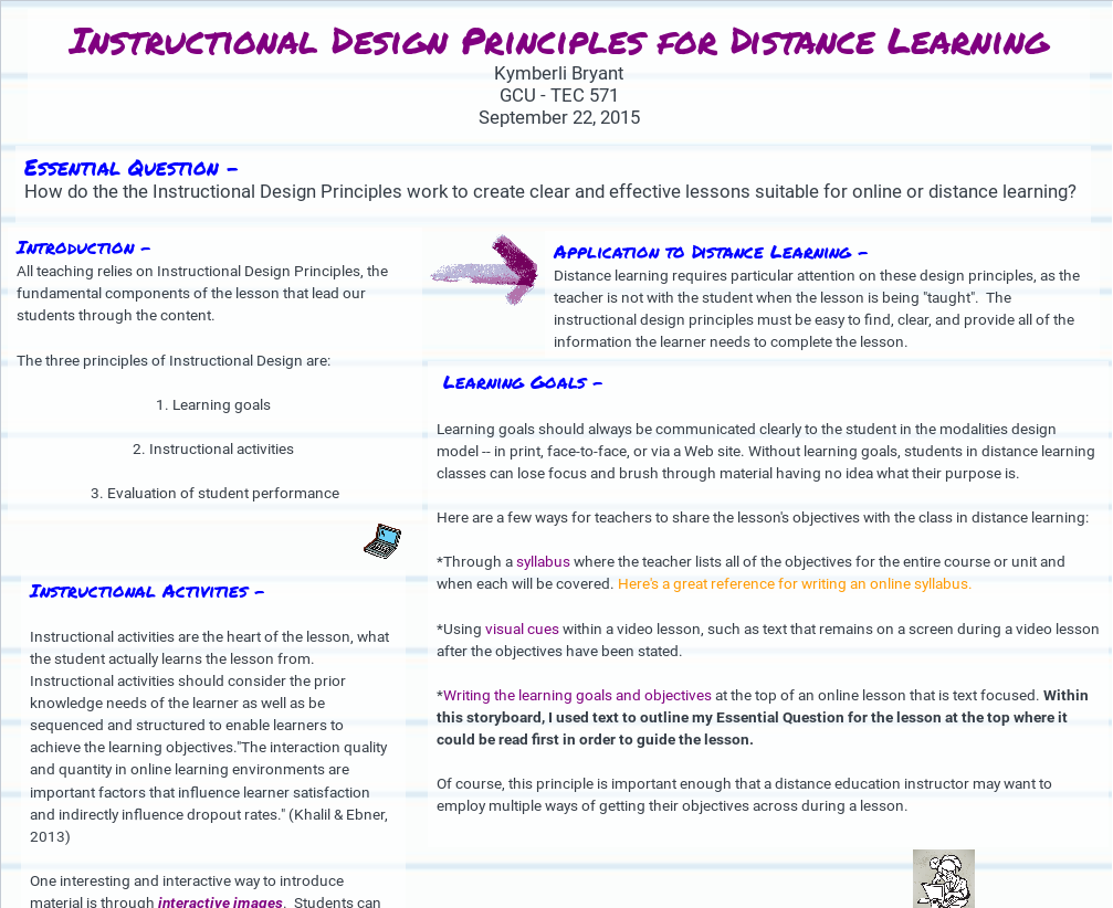 Instructional Design Principles For Distance Learning Pbs Learningmedia