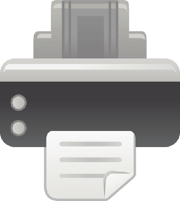 The View of Printer | Clipart