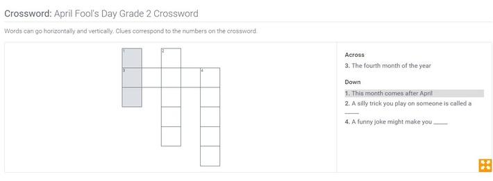 April Fool's Day | Grade 2 Crossword