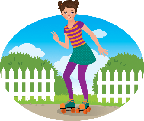Girl on Roller Skates | Clipart