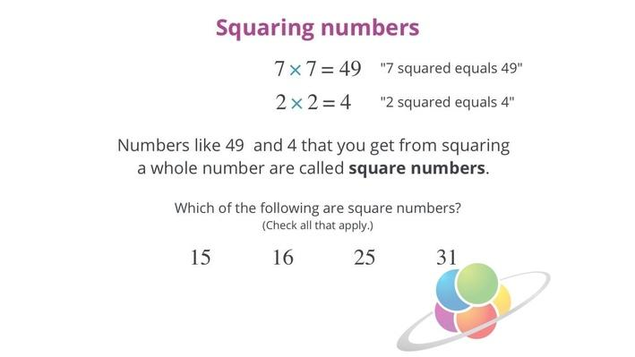 Squaring a number | School Yourself Algebra