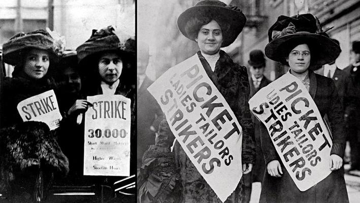 1909 N.Y. Shirtwaist Workers Strike