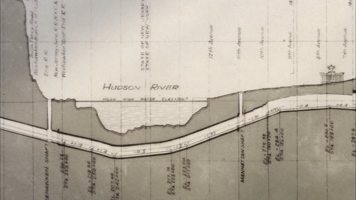 Diagram of Hudson River Tunnel | American Experience