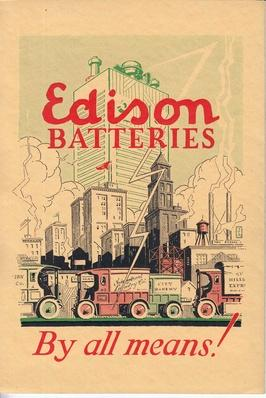 Advertisement for Edison Batteries