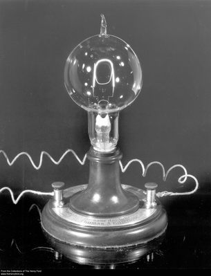 Replica of Thomas Edison's First Electric Lamp