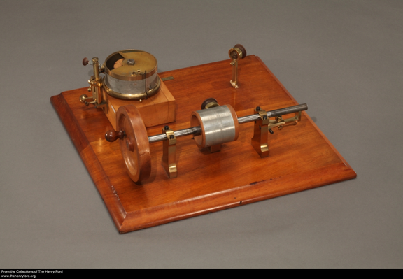 Patent Model of Thomas Edison's Phonograph, 1877
