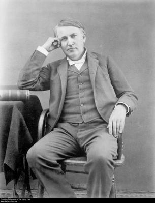 Portrait of Thomas Edison, Inventor and Entrepreneur, Circa 1889