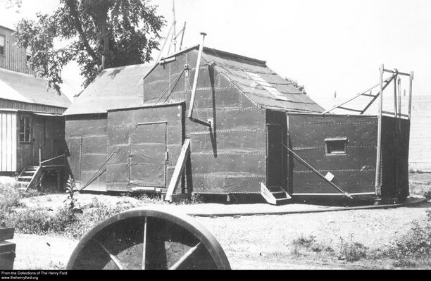 Thomas Edison's Black Maria Movie Studio, Circa 1894