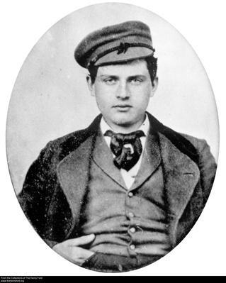 Portrait of Thomas Edison, Telegrapher, Circa 1865