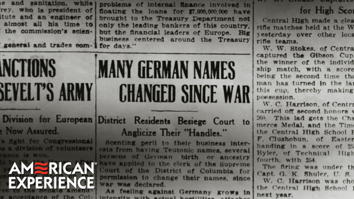 Targeting German Americans | The Great War