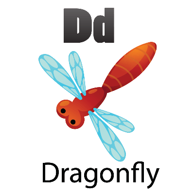 Animal Alphabet - D for Dragonfly | Clipart