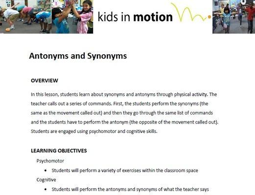 Antonym for assignment