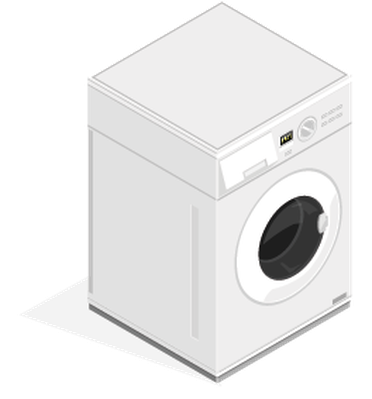 Isometric Washing Machine Appliance | Clipart