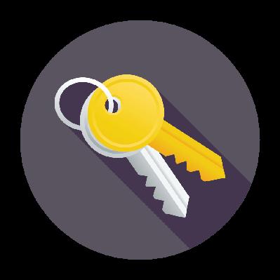 Flat Keys Icon | Clipart