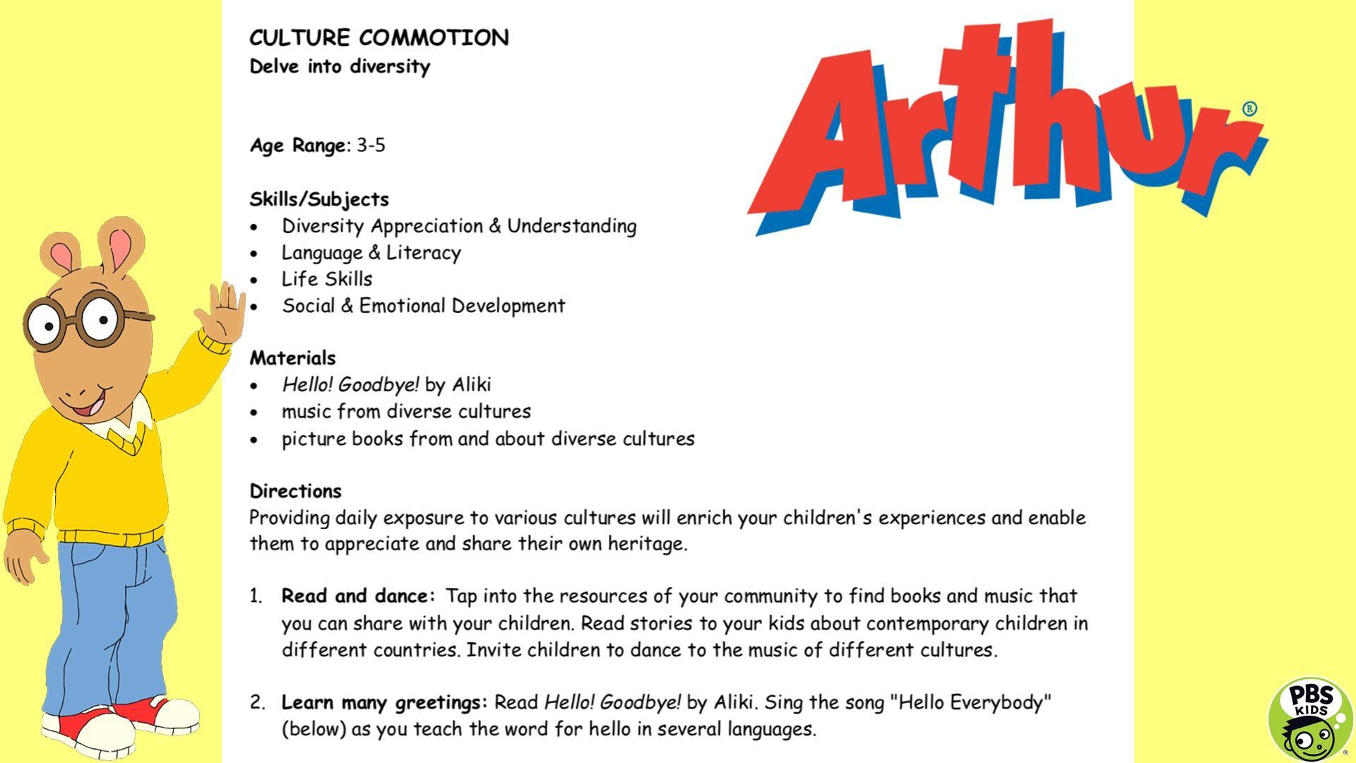 Social And Emotional Skills Everybody >> Social And Emotional Development Arthur Pbs Learningmedia