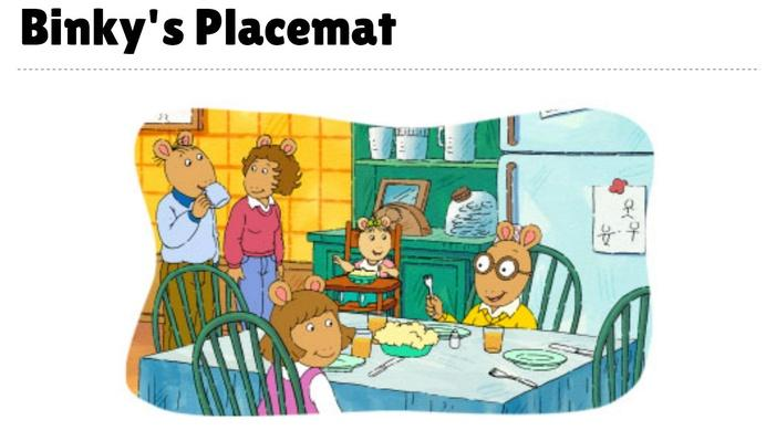Binky's Placemat