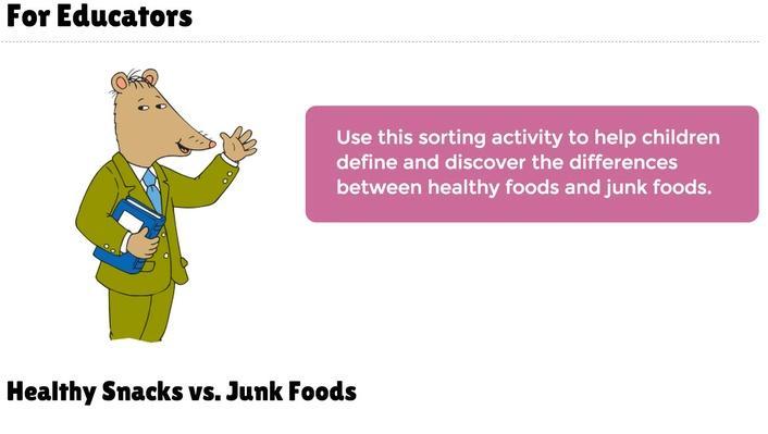 Healthy Snacks vs. Junk Food
