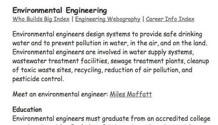 Building Big   Engineering Careers: Environmental Engineering