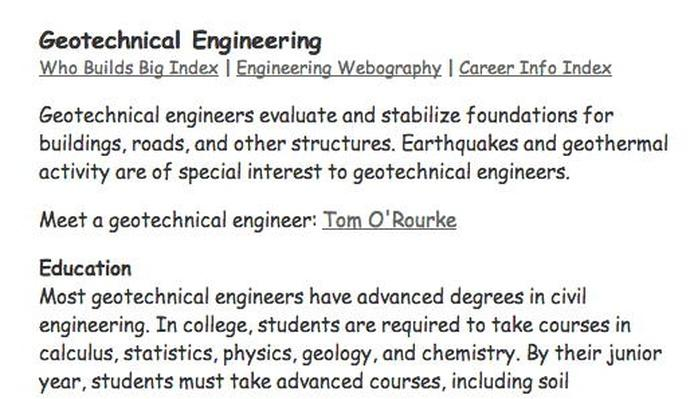 Building Big | Engineering Careers: Geotechnical Engineering