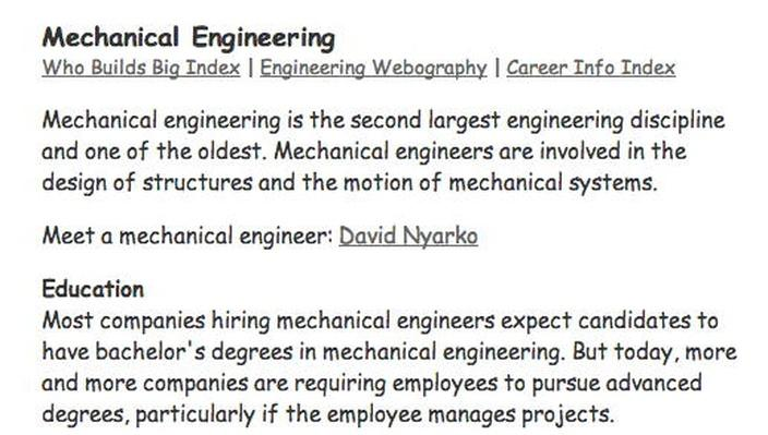 Building Big | Engineering Careers: Mechanical Engineering