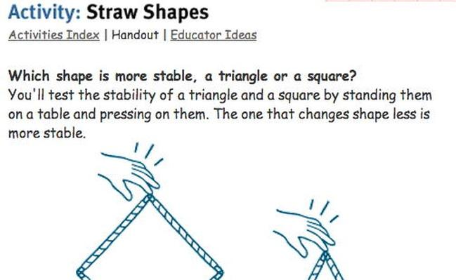 Building Big | Straw Shapes Activity