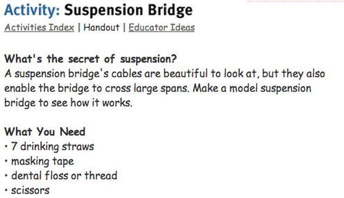 Suspension Bridge Activity