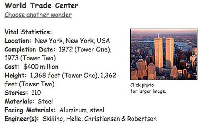 Building Big | World Trade Center