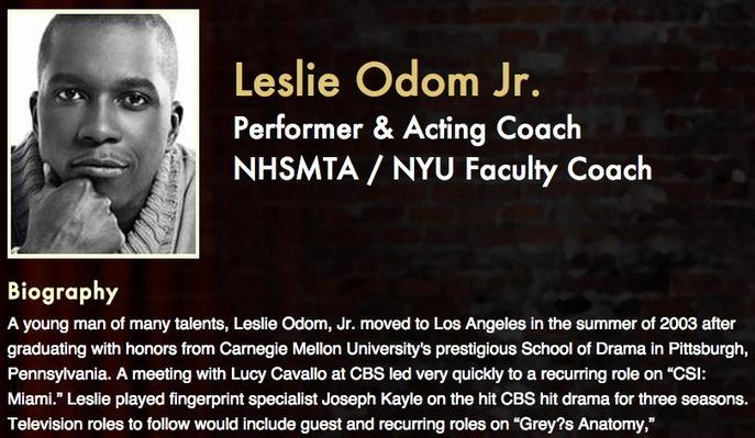Meet the Pros: Leslie Odom Jr.