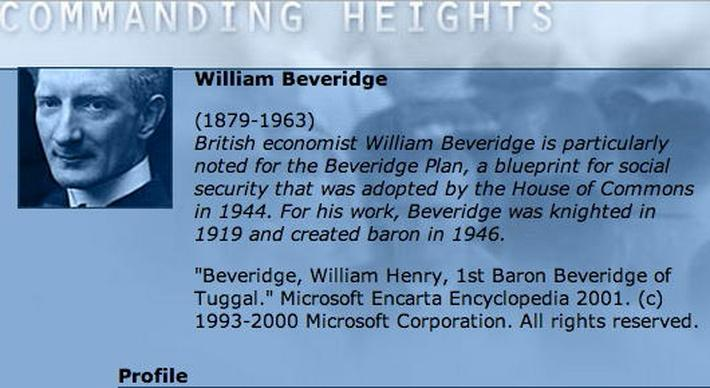 Economic Architect: William Beveridge
