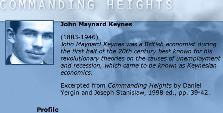 Economic Architect: John Maynard Keynes