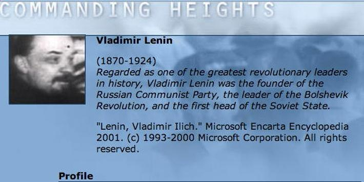 Economic Architect: Vladimir Lenin